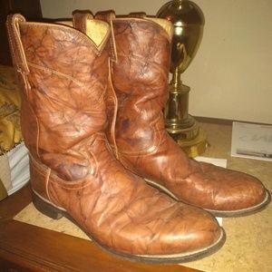 Justin 3163 Men 10 EE Marbled Roper Boot 87-14